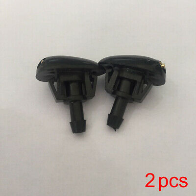 2X Plastic Car Auto Vehicle Window Windshield Washer Spray Sprayer Nozzle Black