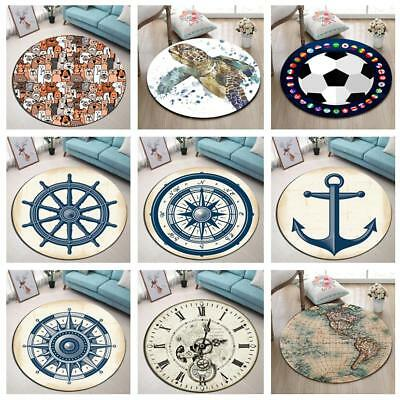 Round Carpet Wolrd Map Home Decor Rugs Bedroom Yoga Area Rug Kid