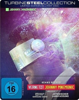 Johnny Mnemonic-Vernetzt-Turbine Steel Collection - Reeves,Keanu   Blu-Ray Neuf