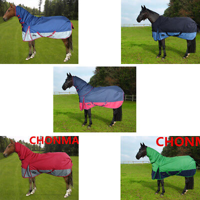 CHONMA 5'0'' 5'3'' 5'6'' 250G Winter Turnout Waterproof Horse Rug Combo