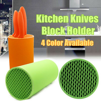 4 Type Universal Round Kitchen Knife Block Storage Knives Holder Organizer Stand