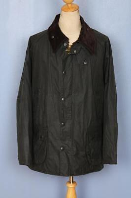 Mens BARBOUR Bedale Waxed Jacket Green Size 46