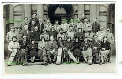 Old Golf Postcard Group Of Golfers With Bags & Clubs Real Photo Vintage C.1930