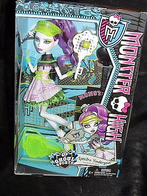 Monster High Ghoul Sports Spectra Doll Tennis Outfit Spectra Damaged Box