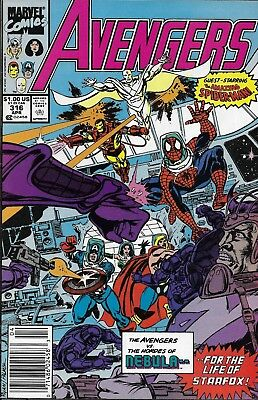 The Avengers Comic Issue 316 Copper Age First Print 1990 Ryan Palmer John Byrne