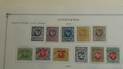 Lithuania Stamp collection on Scott / Minkus album pages to '72~ w/300 stamps