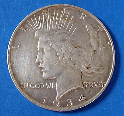1934 D Peace Silver Dollar United States Silver $1 Coin