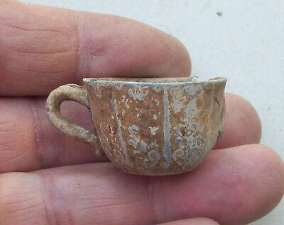 Toy or Doll House Tea Cup Lead/ Pewter Alloy 1700's Metal Detecting Find