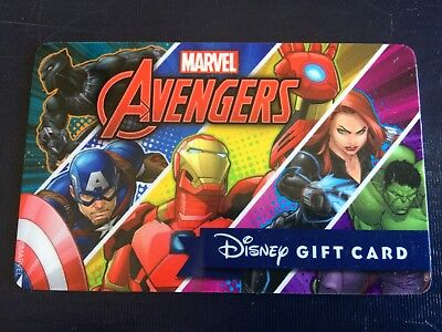 Disney Gift Card Marvel Avengers NO VALUE Collectible