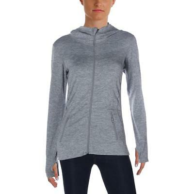 Sweet Romeo Womens Gray Compression Quick Dry Hoodie Athletic L/XL BHFO 3979