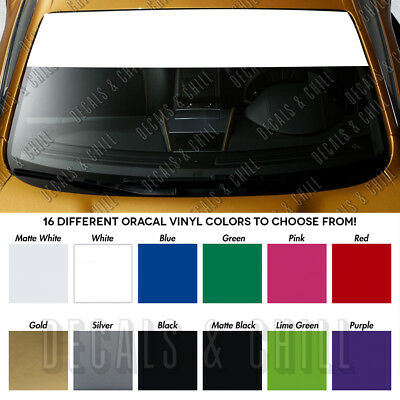 Sun Visor Strip Windshield Banner Vinyl Long Lasting Premium Blank Decal