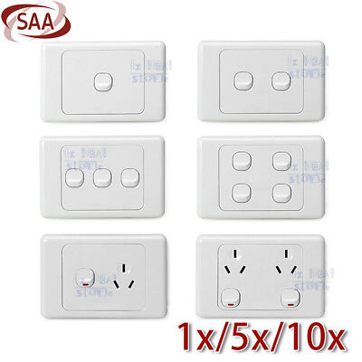 10 Amp 250V Double Power Point Wall Socket outlet GPO light switch Plate SAA AU