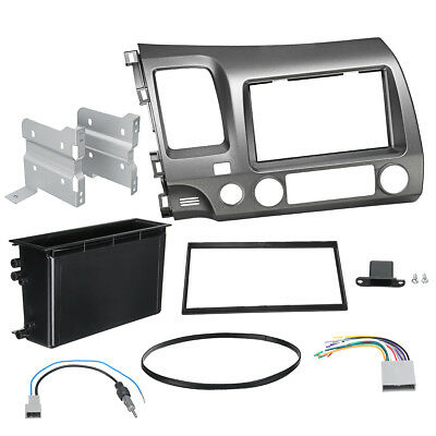 Car Stereo Radio 2 Din Taupe Dash Panel Trim Kit For Honda Civic 2006-2011