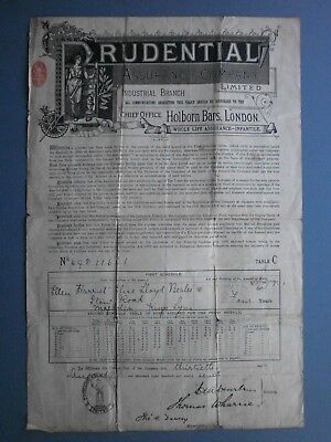 1897 Insurance Policy For A Child Ellen Beales Of Magdalen, King's Lynn