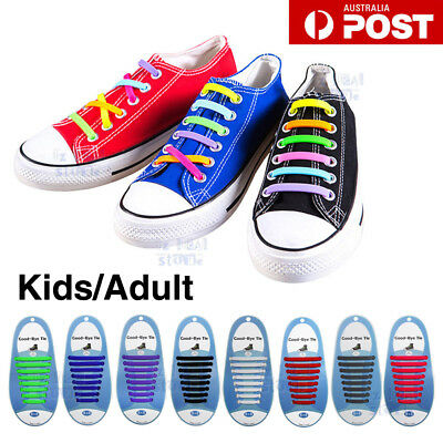 Easy Lazy No Tie Elastic Silicone Shoe Laces Cool Shoelaces Unisex Child Adult