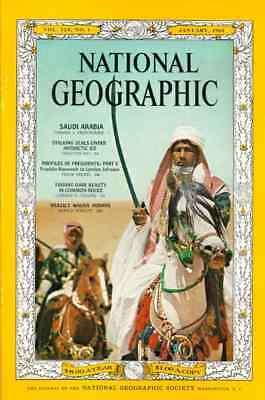 FREE POST National Geo Jan 1966  SAUDI ARABIA SEALS ROOSEVELT JOHNSON BRAZIL