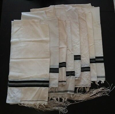 Lot Of 8 Different Used Kosher Tallit Katan Tzizit 100% Wool All Good Condition