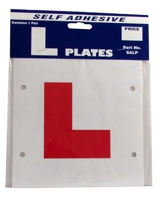 Castle Promotions SALP L Plate Self Adhesive For Motorcycles Mopeds Single