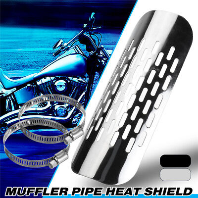 Motorcycle Exhaust Muffler Pipe Heat Shield Cover Heel Guard For Harley Kawasaki