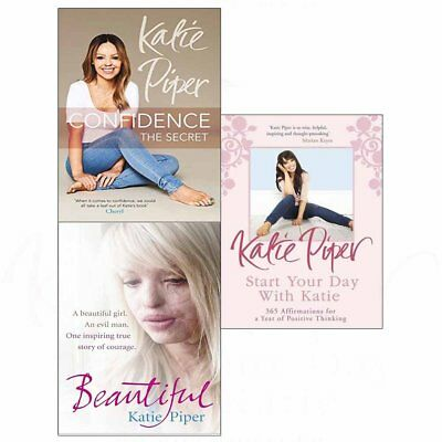 Katie Piper Collection 3 Books Set ConfidenceStart Your Day With Katie NEW