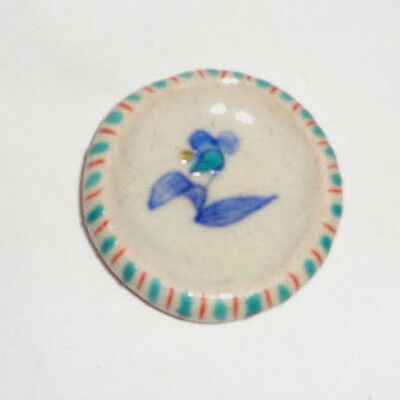 Japanese Butter Pat Hand made Porcelain Hand painted glazed with Lily