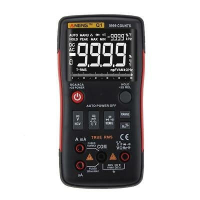 ANENG Q1 True-RMS Digital Multimeter Button 9999 Counts Voltage Ohm Ammeter SN9F