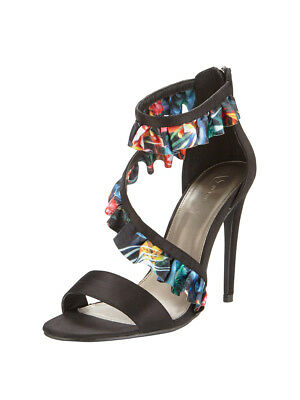 V by Very Gisesle Asymmetric Frill Heeled Sandals