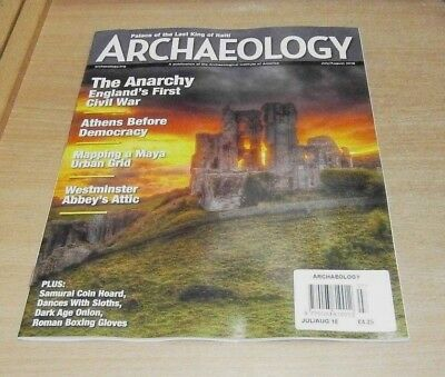 Archaeology magazine JUL/AUG 2018 Athens before Democracy, Maya Urban Grid &more
