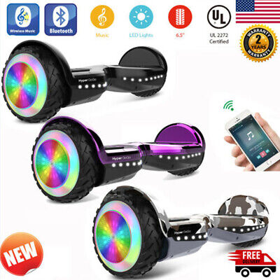 "6.5"" Off Road Electric Self Balancing LED Scooter w/ BT Speaker/Bag UL2272 Gift"