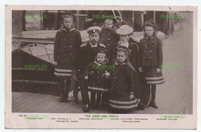 Russian Royalty Postcard The Czar & Family On Board Ship Real Photo Used 1907
