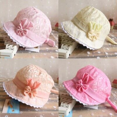 Cute Baby Infant Girl Summer Cartoon Hat Infant Lace Peach Heart Printing Cap