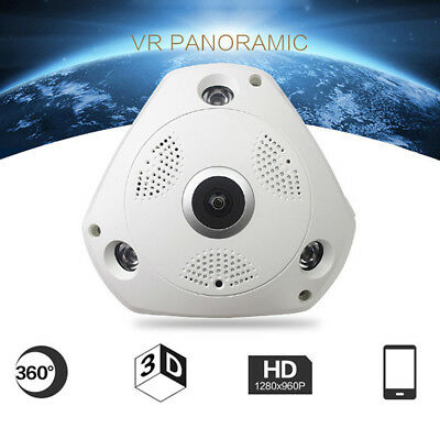 1080P 360degree Panoramic Hidden IR Camera Light Bulb Wifi FishEye CCTV Security
