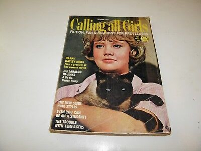 Calling All Girls Oct 1966 Hayley Mills Trouble With Angels Movie 7 Pgs Photos