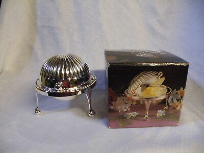 Vintage Roll Top Silver Plated Butter Dish Boxed Unused