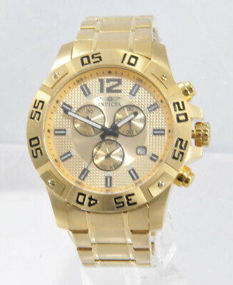 Men's Invicta 1980 Specialty Gold Tone Ion Stainless St Chronograph Dial Watch