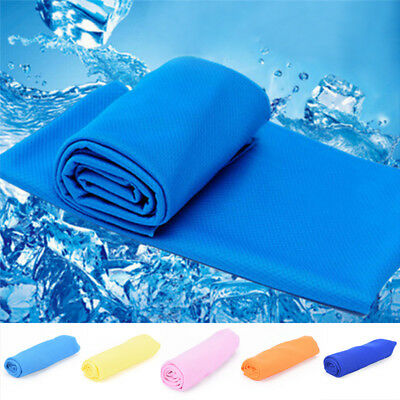 Ice Cold Enduring Running Jogging Gym Chilly Pad Instant Cooling Towel Sports TB
