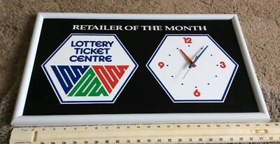 Western Canada Lottery Retailer Of The Month Advertising Clock