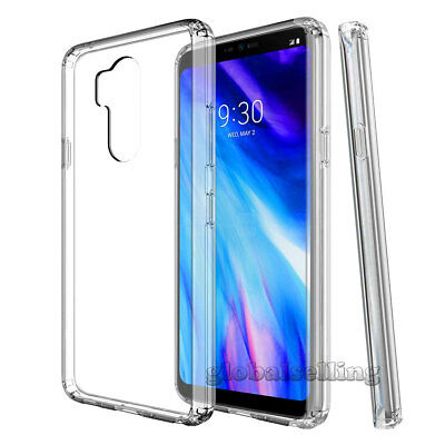 For LG G7 ThinQ Ultra Thin Clear Slim TPU Shockproof Hard Protective Case Cover