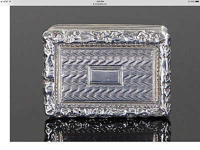 English Sterling Silver George lV Vinaigrette 1824 gilt lined excellent conditio