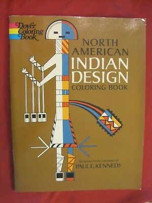 1971 North American Indian Design Coloring Book By Paul E Kennedy