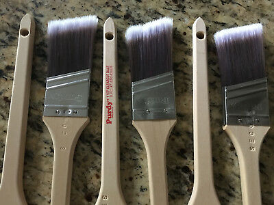 "NEW! Set of 6 PURDY 1 1/2"" CLEARCUT DALE PAINT BRUSHES  #716341401078"