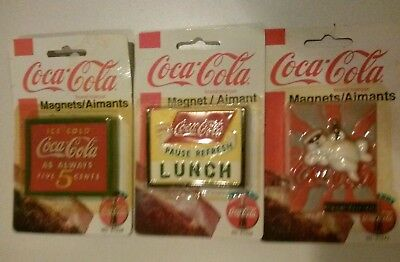 Coca Cola Magnets-(#1)Lunch,(#2)Bear & (#3)Ice Cold--Choice
