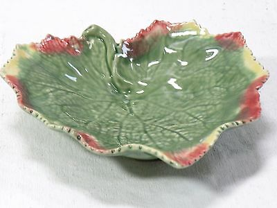 ART POTTERY PORTUGAL Majolica Flower Frog Faience Folk Art