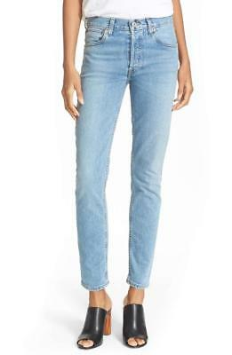 0bfbac50ea302 Redone Re done Levis Vintage High Rise Straight Skinny Jeans Sz 28  300  Retail