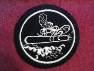 Orig. Early Ww Ii Black Wool (Pt)  Patrol Torpedo/ Mosquito Boat Patch Unissued