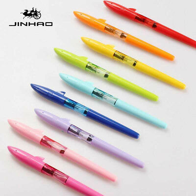 New Jinhao shark Plastic Fountain Pen Smooth Fine Nib 0.5mm Writing Gift For Him