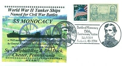 MONOCACY Ship Named for 1864 Battle of Monocacy, Maryland Cachet Pictorial PM