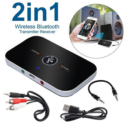 Bluetooth V4 Transmitter & Receiver Wireless A2DP Audio 3.5mm Aux Adapter Hub B6