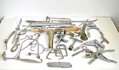 Big Lot Antique veterinary medical surgical, obstetric orthopaedic instruments
