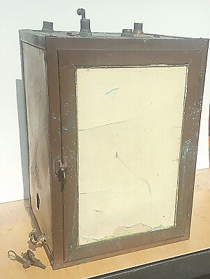 Antique I. Blickman NY Copper and Beveled Glass benchtop Laboratory Incubator